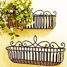 花架 歐式陽台牆上壁掛花架客廳鐵藝花盆架懸掛吊蘭綠蘿架子掛牆置物架
