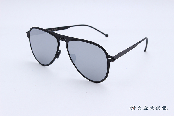 ROAV 偏光太陽眼鏡 Atlas - Mod.8101 ( 霧黑框/白水銀) 薄鋼折疊墨鏡