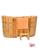 洗澡木桶 木桶浴缸木浴桶泡浴桶兒童沐浴盆洗澡桶泡澡桶實木質大人家用全身T