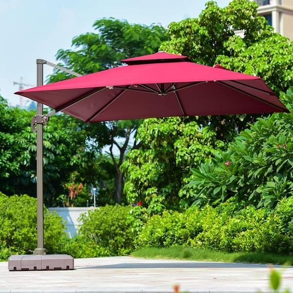 紫葉戶外遮陽傘別墅羅馬傘戶外傘大太陽傘庭院傘室外露臺擺攤傘 後街五號