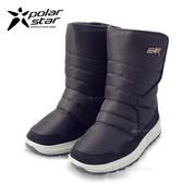 PolarStar 兒童 防潑水 保暖雪鞋│雪靴『黑』 268533 (內厚鋪毛/ 防滑鞋底) 雪地靴.雪地必備
