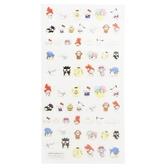 〔小禮堂〕Sanrio大集合 造型燙金貼紙組《紅.角色集合》手帳貼紙.黏貼用品 4935124-50059