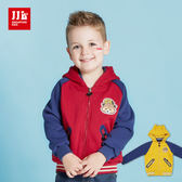 JJLKIDS 男童 小浣熊造型內刷毛連帽外套(2色)