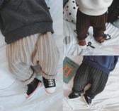 兒童屁屁褲允兒媽男嬰童冬季新款兒童針織寬鬆哈倫褲寶寶棉線毛褲大PP褲伊芙莎