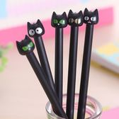 大眼黑貓黑色水性筆(隨機出貨)