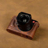 牛皮萊卡徠卡Q 皮套 typ116 相機包保護套半套手柄底座  魔法鞋櫃  igo