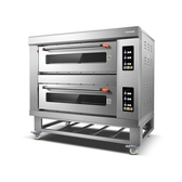 烤箱 lecon/樂創 烤箱商用電熱二層四盤 大容量蛋糕披薩烘培定時電烘爐 WJ【米家科技】
