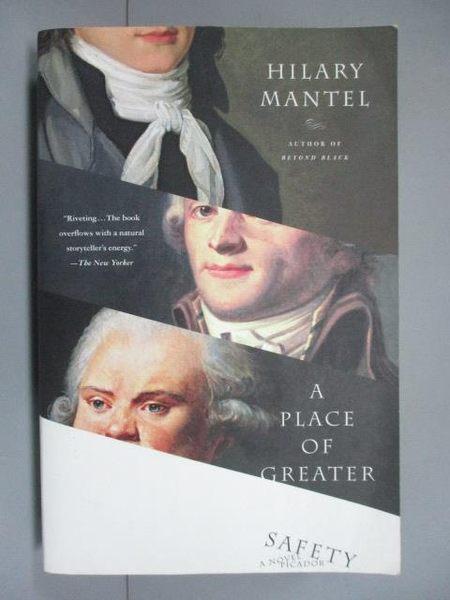 【書寶二手書T8/一般小說_MRC】A Place of Greater Safety_Mantel, Hilary