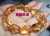 『晶鑽水晶』天然黃水晶手鍊不定型~光亮度超佳! 強力招財~送禮物*附禮盒*大型*免運
