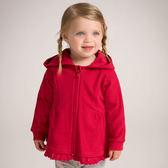 外套 DaveBella 小童/大童 拼接蕾絲擺連帽外套 - 紅 DB6042