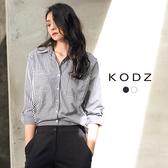 東京著衣【KODZ】極簡百搭率性雙口袋設計襯衫-S.M.L(172025)