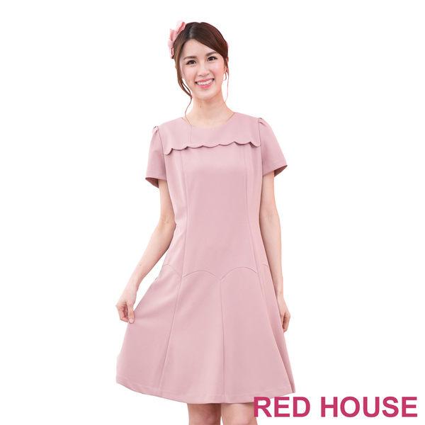 【RED HOUSE-蕾赫斯】花瓣微波浪洋裝(共二色)