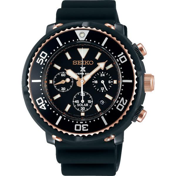 SEIKO 精工 Prospex Scuba 鮪魚罐頭太陽能計時限量腕錶 V175-0DT0K(SBDL038J)