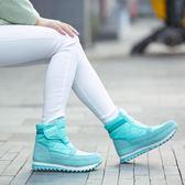 東北冬季加絨保暖雪地靴女防水防滑雪地鞋低筒棉鞋厚底情侶短靴子  晴光小語