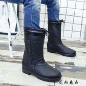 現貨JW 中筒男士膠鞋時尚成人套鞋防水鞋
