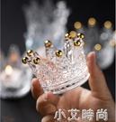 摩登主婦水晶皇冠浪漫燭臺創意桌面首飾架裝飾擺件品燭光晚餐道具 小艾新品