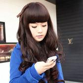 【WASSK】 W276  時尚長捲髮 微卷齊瀏海蓬鬆  cosplay 高溫絲 可耐熱160度 可愛修臉大波浪長捲假髮
