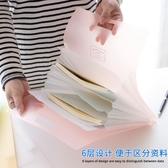 豎式風琴包文件夾A4手提式資料包收納袋