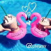 歐美 充氣小粉鶴 充氣玩具 兒童玩具 手機座 飲料杯座 泳圈 家庭裝飾品 拍照好物 小道具