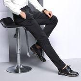 西裝褲 休閒長褲子秋冬直筒型商務正裝多口袋上班型長褲男西褲【非凡上品】cx5522
