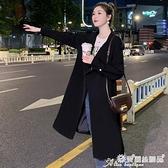 中長款外套 風衣女中長款小個子秋季裝新款正韓寬鬆氣質今年流行外套咖色 愛麗絲