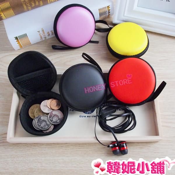 韓妮小舖  弧邊扁形 耳機 傳輸線 收納包 收納盒 保護盒 耳機包【SC0138】