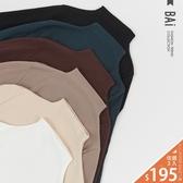 上衣 微厚款內薄磨毛超彈性立領打底衫-BAi白媽媽【191199】