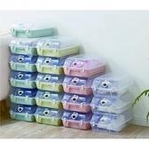 家居可疊式防塵透明收納蓋鞋盒-10入(顏色隨機出貨)顏色隨機出貨