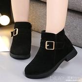 女童短靴子秋冬馬丁靴兒童防滑雪地靴英倫風小女孩公主鞋  【2021新春特惠】