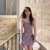 性感洋裝 2021新款仙女超仙森系裙子甜美初戀法式吊帶一字肩性感洋裝女夏