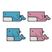 Galaxy Buds Live / Buds+ 保護殼│兩片式│鯨魚│加厚矽膠 保護套│z9692