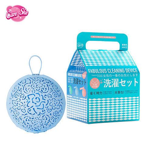 【CareShe 可而喜 】時尚花園/內衣輕洗組-第二代升級版內衣球-寧靜藍