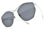 Dior 太陽眼鏡 STELLAIRE4 3YGIR (銀-藍鏡片) 歐美時尚不規則造型款 墨鏡 #金橘眼鏡