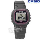 CASIO / LA-20WH-8A / 卡西歐輕巧復古LED計時防水鬧鈴橡膠手錶 灰色 29mm