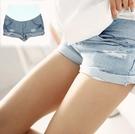 漂亮小媽咪 青春托腹褲 【PPW0119YS】 牛仔 孕婦 牛仔短褲 孕婦托腹褲 孕婦牛仔褲 孕婦褲