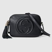 【雪曼國際精品】GUCCI 308364 A7M0G 1000 soho disco bag肩背包(黑色)─全新