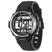 JAGA 捷卡 防水多功能冷光 電子錶 運動錶 男錶 學生錶 男童 女錶 M1048A-A 黑