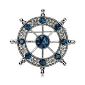男士胸針胸花海軍風水船舵西服復古胸章領針歐美潮人徽章飾品