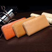 真皮多夾層長夾 拉鍊長夾 手拿包 錢包  【Solomon 皮件設計】 L003