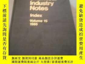 二手書博民逛書店Chmical罕見Industry Notes(化學工業的筆記)