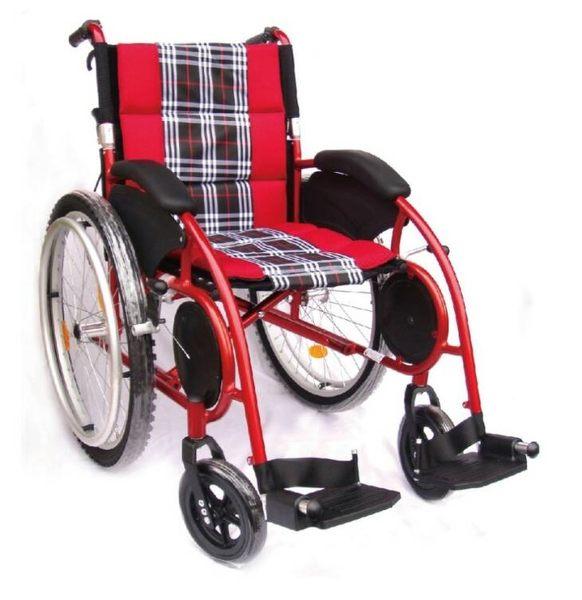 杏華 機械式輪椅 (未滅菌)  ( 鋁合金輪椅 -可折背,戰弧)