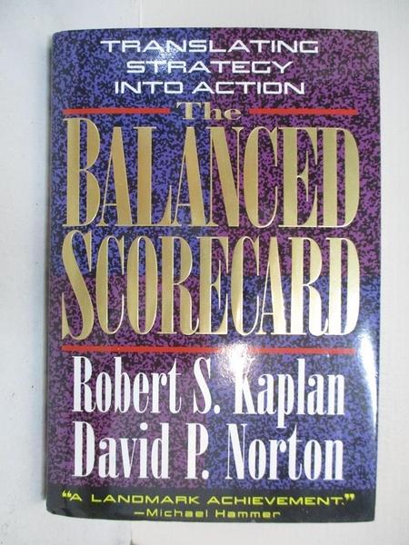 【書寶二手書T1/財經企管_DDE】The Balanced Scorecard: Translating Strategy into Action