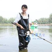 下水褲 摸魚釣魚褲下水加厚防水連身捕魚全身水衣涉水耐磨橡膠半身釣魚服