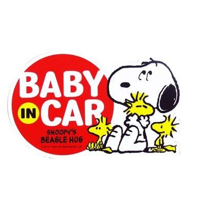 史努比 SNOOPY 車用 BABY IN THE CAR  磁鐵告示牌 SN BABY