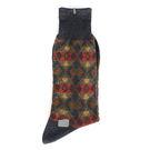 KENZO 菱格紋刺繡紳士襪(黑色)999975