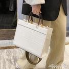 石頭紋復古大容量包包女2020新款潮韓版手提包商務女士側背斜背包 黛尼時尚精品
