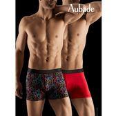 Aubade man-壞男人M-XL舒棉平口褲(塗鴨2件組)