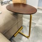 懶人電腦桌 輕奢小桌子臥室床邊桌角幾迷你小型創意沙發邊幾邊櫃c 晶彩 99免運LX
