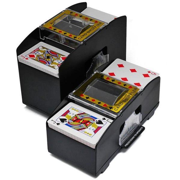 洗牌機 洗牌機 洗牌器 撲克牌自動洗牌機【全館九折】