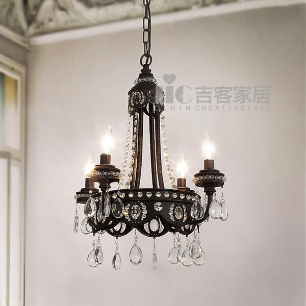 [吉客家居] 吊燈 JW145-145A 金屬水晶造型時尚後現代工業餐廳民宿咖啡館居家飯店